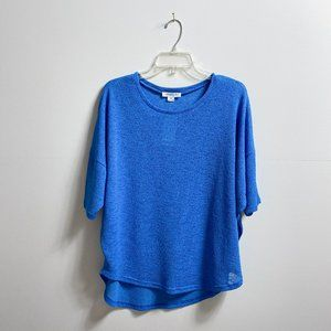 Bright blue sweater top